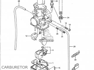 Suzuki Rm125 1991 (m) Usa (e03) parts list partsmanual