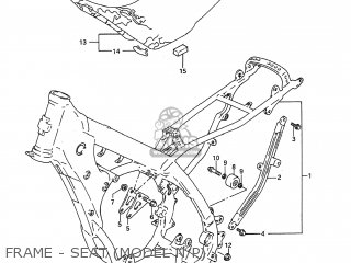 Suzuki Rm125 1992 (n) Usa (e03) parts list partsmanual