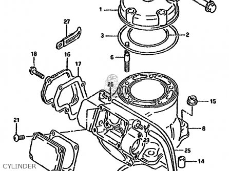 Suzuki Rm125 1993 (p) parts list partsmanual partsfiche