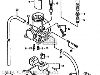 Suzuki Rm125 1994 (r) parts list partsmanual partsfiche