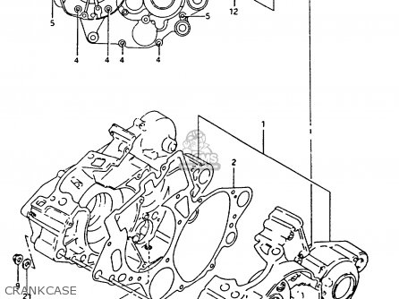 Suzuki Rm125 1994 (r) parts list partsmanual partsfiche