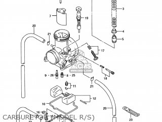 Suzuki Rm125 1995 (s) Usa (e03) parts list partsmanual
