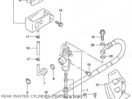 Suzuki Rm125 1996-2000 (usa) parts list partsmanual partsfiche