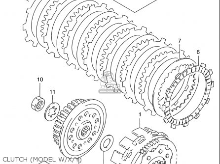 Suzuki RM125 1996 (T) USA (E03) parts lists and schematics