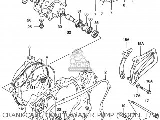Suzuki Rm125 1996 (t) Usa (e03) parts list partsmanual