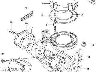 Suzuki Rm125 1996 (t) Usa (e03) parts list partsmanual