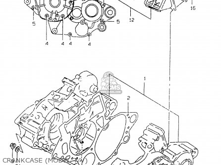 Suzuki Rm125 1998 (w) parts list partsmanual partsfiche