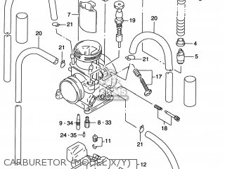 Suzuki RM125 1998 (W) USA (E03) parts lists and schematics