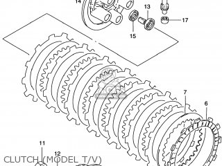 Suzuki Rm125 1998 (w) Usa (e03) parts list partsmanual