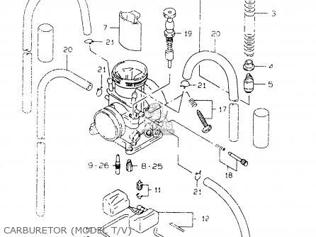 Suzuki RM125 1999 (X) parts lists and schematics