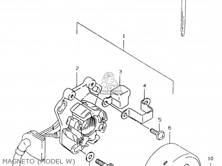 Suzuki Rm125 1999 (x) parts list partsmanual partsfiche