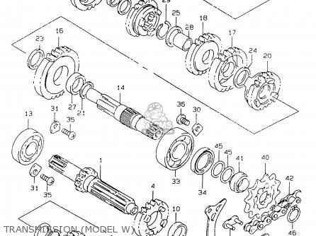 Suzuki RM125 1999 (X) parts lists and schematics