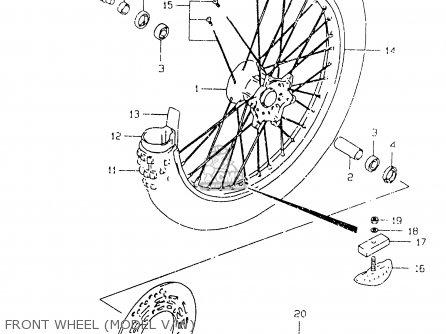 Suzuki Rm125 2000 (y) parts list partsmanual partsfiche