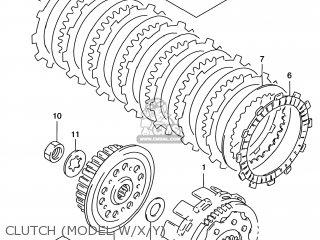 Suzuki RM125 2000 (Y) USA (E03) parts lists and schematics