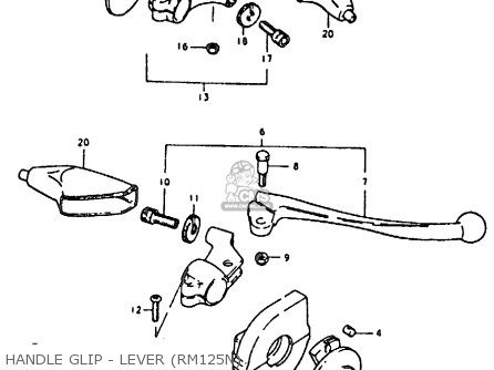 Suzuki RM125 RM125 1979 1980 (N T) parts lists and schematics