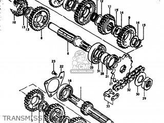 Suzuki Rm250 1976 (a) Usa (e03) parts list partsmanual