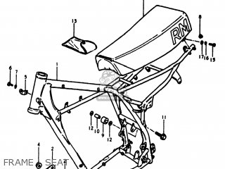 Suzuki RM250 1980 (T) USA (E03) parts lists and schematics