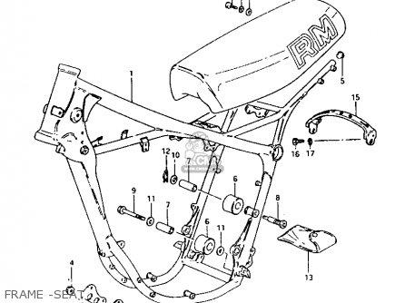 Suzuki RM250 1981 (X) parts lists and schematics