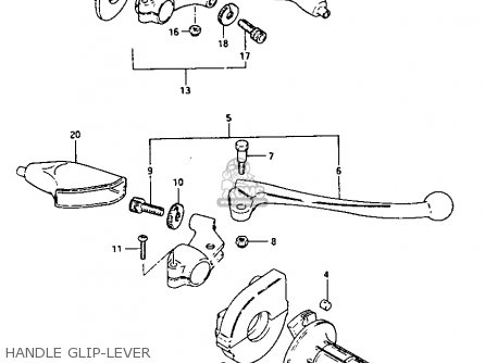 Suzuki Rm250 1981 (x) parts list partsmanual partsfiche