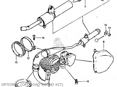 Suzuki Rm250 1981 (x) parts list partsmanual partsfiche