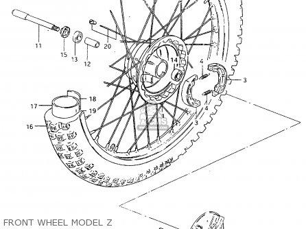 Suzuki Rm250 1982 (z) parts list partsmanual partsfiche