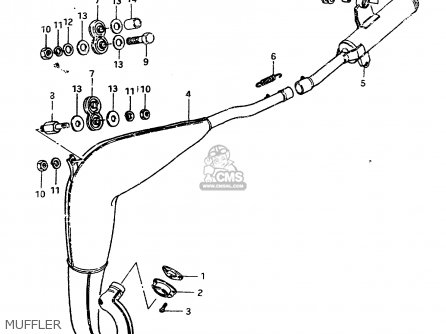 Suzuki Rm250 1982 (z) parts list partsmanual partsfiche