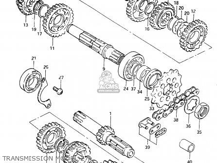 Suzuki RM250 1982 (Z) parts lists and schematics
