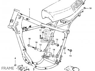 Suzuki Rm250 1983 (d) parts list partsmanual partsfiche