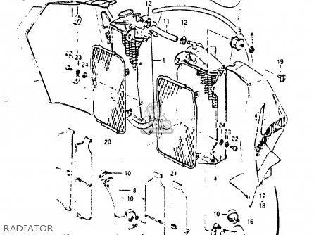 Suzuki RM250 1984 (E) parts lists and schematics