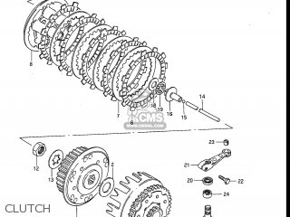Suzuki RM250 1984 (E) USA (E03) parts lists and schematics