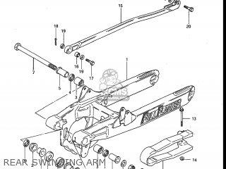 Suzuki Rm250 1984 (e) Usa (e03) parts list partsmanual