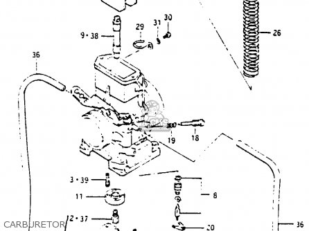 Suzuki Rm250 1985 (f) parts list partsmanual partsfiche