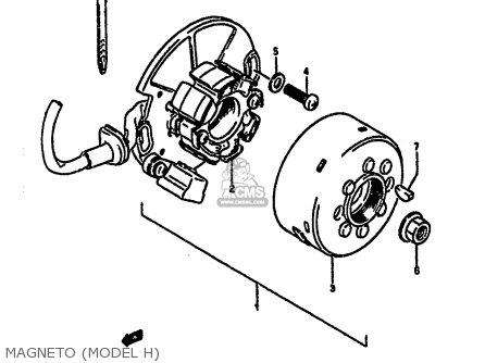 Suzuki RM250 1986 (G) parts lists and schematics