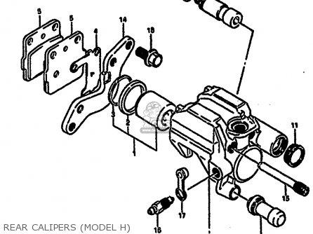 Suzuki Rm250 1986 (g) parts list partsmanual partsfiche