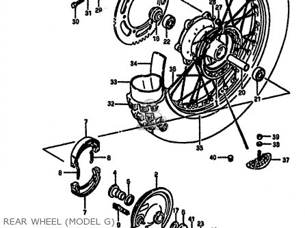 Suzuki Rm250 1986 (g) parts list partsmanual partsfiche
