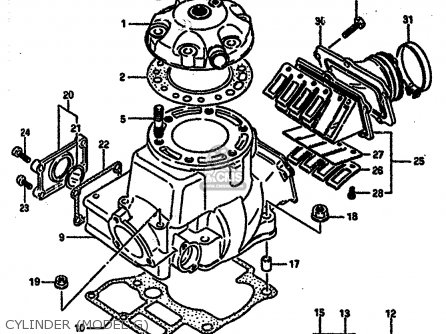 Suzuki Rm250 1987 (h) parts list partsmanual partsfiche