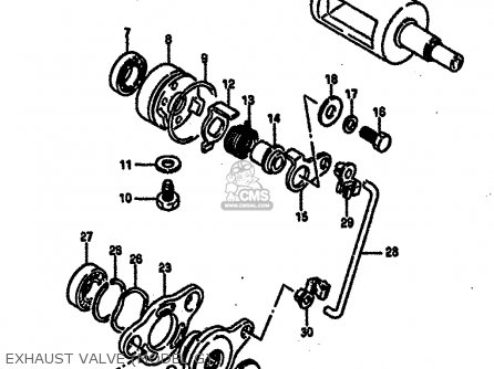 Suzuki RM250 1987 (H) parts lists and schematics