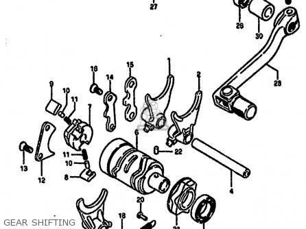 Suzuki Rm250 1987 (h) parts list partsmanual partsfiche