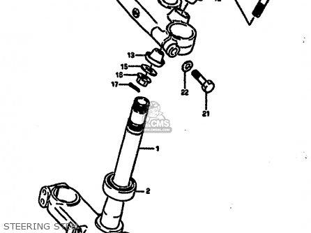 Suzuki RM250 1987 (H) parts lists and schematics