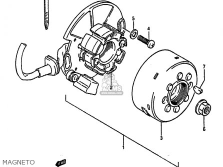 Suzuki Rm250 1988 (j) parts list partsmanual partsfiche