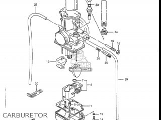 Suzuki RM250 1988 (J) USA (E03) parts lists and schematics