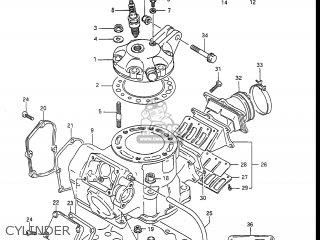 Suzuki RM250 1988 (J) USA (E03) parts lists and schematics