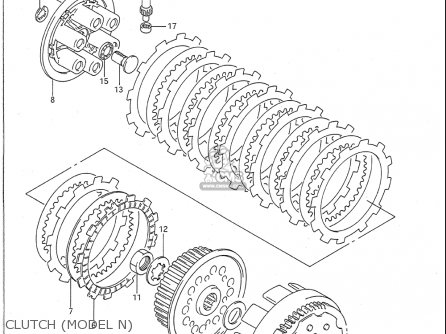 Suzuki Rm250 1989-1992 (usa) parts list partsmanual partsfiche