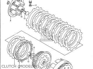 Suzuki RM250 1989 (K) USA (E03) parts lists and schematics