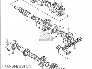 Suzuki RM250 1989 (K) USA (E03) parts lists and schematics