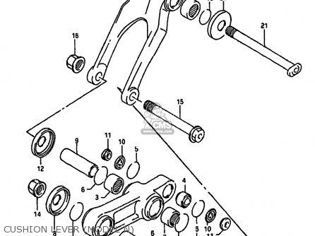 Suzuki Rm250 1990 (l) parts list partsmanual partsfiche