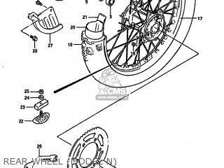 Suzuki Rm250 1990 (l) parts list partsmanual partsfiche