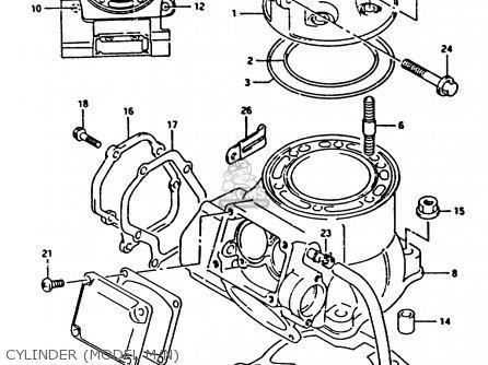 Suzuki Rm250 1990 (l) United Kingdom France Australia (e02