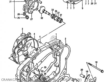 Suzuki Rm250 1992 (n) parts list partsmanual partsfiche