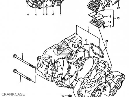 Suzuki Rm250 1992 (n) parts list partsmanual partsfiche